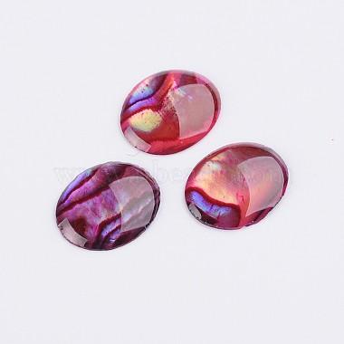 10mm Fuchsia Oval Shell Cabochons