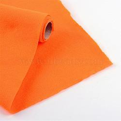 Feutre à l'aiguille de broderie de tissu non tissé pour l'artisanat de bricolage, orange foncé, 450x1.5~2 mm; environ 1 m/rouleau(DIY-R069-02)