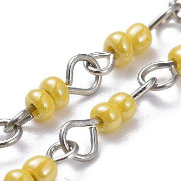 Yellow Glass Handmade Chains Chain