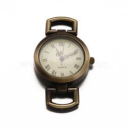 Alloy Watch Components, Flat Round, Antique Bronze, 49x27x9mm(X-WACH-F001-02AB)