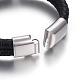 Leather Braided Cord Bracelets(BJEW-E352-06P)-4