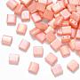 Light Salmon Rectangle Glass Beads(SEED-S031-L-596)