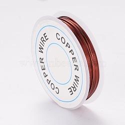fil de bijoux de cuivre, SaddleBrown, Jauge 20, 0.8 mm; 3 m / rouleau(X-CWIR-CW0.8mm-10)