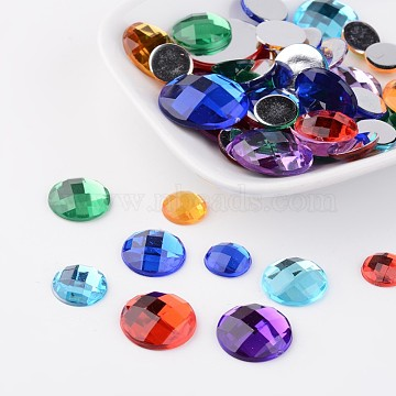 10mm Mixed Color Half Round Acrylic Rhinestone Cabochons