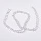 Half-Handmade Transparent Glass Beads Strands(X-GB4mmC01)-4