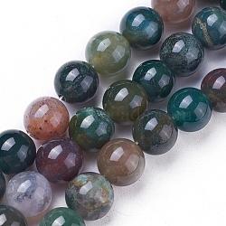 """Chapelets de perles rondes en agate indienne naturelle, 6mm, trou: 1mm; environ 61 pcs/chapelet, 15.7""""(G-N0120-06-6mm)"""
