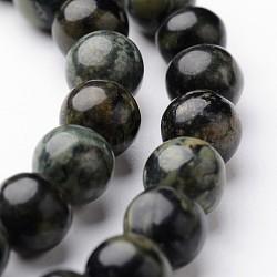 "Chapelets de perles rondes en jaspe kambaba naturel, 6mm, trou: 1mm; environ 63~65 pcs/chapelet, 15""(G-J346-29-6mm)"