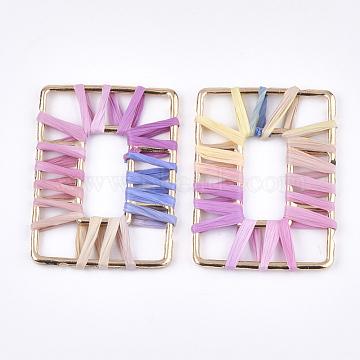 50mm Colorful Rectangle Raffia Pendants