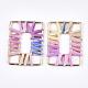 Handmade Raffia Woven Linking Rings/Pendants(WOVE-S120-05B)-1