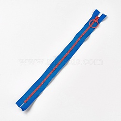 Garment Accessories, Nylon and Resin Closed-end Zipper, Zip-fastener Component, DodgerBlue, 33.3~33.5x2.8x0.2cm(FIND-WH0028-04-A01)