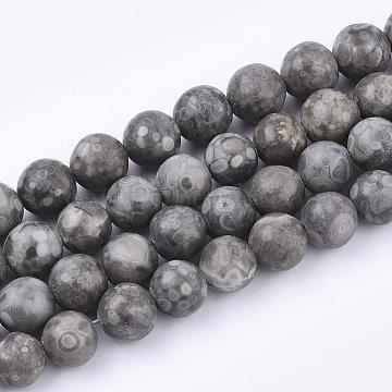Natural Maifanite/Maifan Stone Beads Strands, Round, Dyed, 8~8.5mm, Hole: 1mm, about 47pcs/strand, 15.5 inches(X-G-Q462-8mm-21)