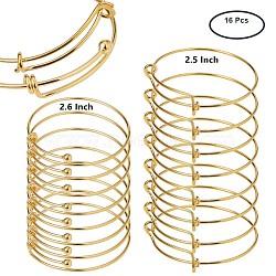 Регулируемые манжеты латуни делает, золотые, 64~67 мм(MAK-BC0002-01G)