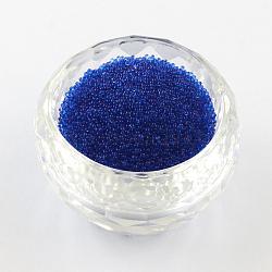 Décoration d'art d'ongle de mini perles de verre transparent 3D de bricolage, minuscules perles de clou de caviar, mediumblue, 0.6~0.8mm(X-MRMJ-R038-C11)