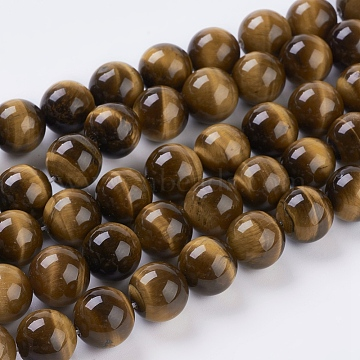 12mm Round Tiger Eye Beads