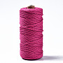 Cotton String Threads, Macrame Cord, Decorative String Threads, for DIY Crafts, Gift Wrapping and Jewelry Making, Camellia, 3mm, about 109.36 yards(100m)/roll