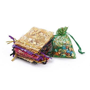 Mixed Color Rectangle Organza Bags