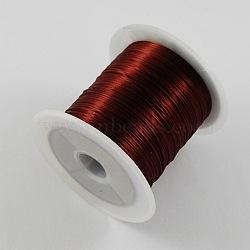 Étirer perles élastique chaîne de fil, marron, 1mm, 10m/rouleau(X-EW-S002-05)