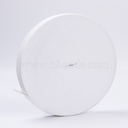 Flat Elastic Rubber Band, Webbing Garment Sewing Accessories, White, 25mm, about 43.74 yards(40m)/roll(EC-WH0002-25mm-01)