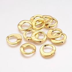 Cadres de perles irrégulières en alliage tibétain, sans plomb et sans cadmium et sans nickel, Or antique, 20.5x20.5x3mm, Trou: 12mm(X-GLF10246Y-NF)