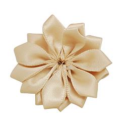 La main de blé fleurs tissé accessoires de costumes, 37x37x7mm(X-WOVE-QS17-10)