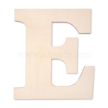 Letter Unfinished Wood Blank Cutouts, for DIY Crafts, Wedding, Home Decoration and Paint, Letter.E, 30x24x0.3cm(DIY-ZX040-01E)