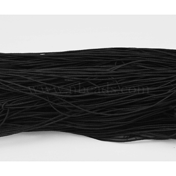 Elastic Cord, Black, about 1mm thick, about 25.15~27.34 yards(23~25m)/bundle(X-YRB1MM-8)
