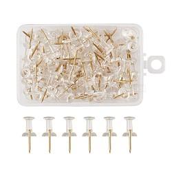 Пластиковые карты, рисование штифтов, Офисные и школьные принадлежности, с железными контактами, золотой, 23x8 мм; pin: 1 мм; 100 шт / коробка(X-AJEW-TAC0019-10G)