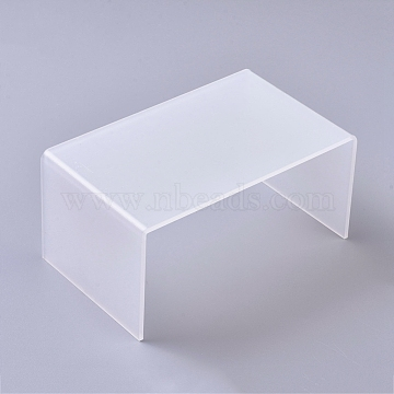 Acrylic Risers Display, U-Shape Jewelry Display Holder, for Jewelry Display Store Fixture Table Decorations, Clear, 16x10x7.9cm(ODIS-WH0005-29B)