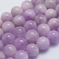 perles de kunzite naturel brins, arrondir, a- année, 14~14.5 mm, trou: 1.5 mm; environ 28 perle / brin, 15.5 (39.5 cm)(G-L478-13-14mm)