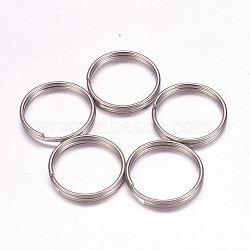 304 Stainless Steel Split Rings, Stainless Steel Color, 16x2mm, 14mm inner diameter(STAS-F117-33P)