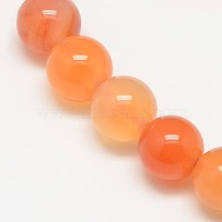 Natural Carnelian Beads Strands, Round, 6mm, Hole: 1mm, about 62pcs/strand, 14.5 inches