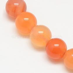 """Chapelets de perles en cornaline naturelle, rond, 6mm, trou: 1mm; environ 62 pcs/chapelet, 14.5""""(X-G-N0006-6mm-17)"""