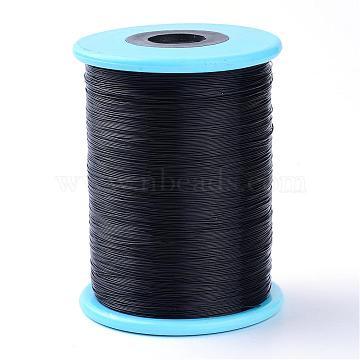 Fishing Thread Nylon Wire, Black, 0.45mm, about 1148.29 yards(1050m)/roll(NWIR-R038-0.45mm-01)