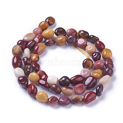 perles de Mookaite naturel brins, nuggets, 6~9x4~8 mm, trou: 1 mm sur 52~55 perle / Chapelet, 15.55 15.7 cm)(X-G-P433-17)