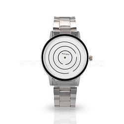 Мужчин случайные часы высококачественной нержавеющей стали кварцевые часы, 63 мм; голова часы: 40x47x8 мм; лицо часов: 35x35 мм(WACH-N004-12)