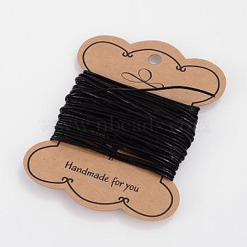1mm Black Cowhide Thread & Cord