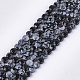 Natural Snowflake Obsidian Beads Strands(G-S354-38)-1