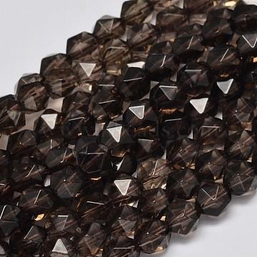 8mm Polygon Citrine Beads