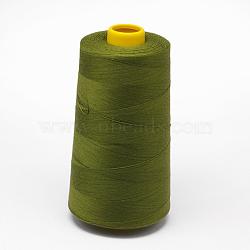 Fil à coudre 100% fibre de polyester filée, olivedrab, 0.1 mm; environ 5000 mètres / rouleau(OCOR-O004-A43)