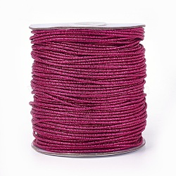 Cordon de polyester, mediumvioletred, 2 mm; 100 yards / rouleau (300 pieds / rouleau)(OCOR-E017-01A-19)