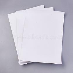Papier d'impression adhésif de film de PVC, blanc, 29.5x21x0.02cm; 50 feuilles / set(AJEW-WH0096-75)