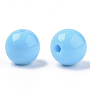 8mm LightSkyBlue Round Acrylic Beads(PAB703Y-26)