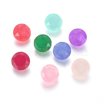 10mm Mixed Color Flat Round Glass Rhinestone Cabochons