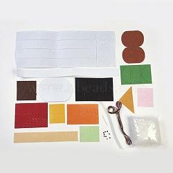 Set à sushis fait main en tissu non tissé, matériau de coupe libre diy paquet, pour les jouets d'enfants, colorées, 4.2~37x4.3~14x0.08 cm(DIY-L008-03)