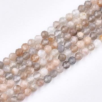 4mm Round Sunstone Beads