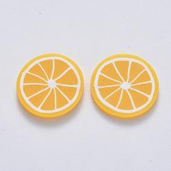 main en pate polymère cabochons, citron, d'orange, 19~20.5x2~2.5 mm(X-CLAY-R084-08A)