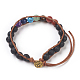 Natural Lava Cord Beaded Bracelets(BJEW-E351-02I)-2