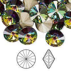 cristal autrichien cabochons de strass, 1122, Rivoli Chaton, facettes, déjouer retour, 001 vm_crystal Vitrail Medium, 6.14~6.32 mm(X-1122-SS29-F001VM)