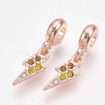 26mm Others Alloy+Rhinestone Dangle Beads