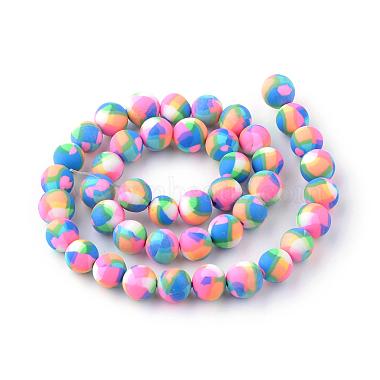 Chapelets de perle en pâte polymère manuel(X-CLAY-Q230-25)-2